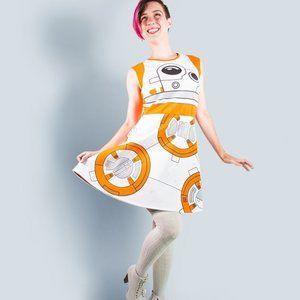 Star Wars Disney BB-8 Skater Dress NIP